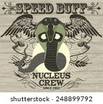 retro drift snake racing vector ... | Shutterstock .eps vector #248899792