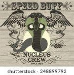 retro drift snake racing vector ... | Shutterstock .eps vector #248899792