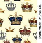 crowns vector seamless pattern | Shutterstock .eps vector #248901136