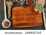 different spices and herbs with ... | Shutterstock . vector #248902765