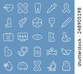 medical lines icons set graphic ...   Shutterstock . vector #248905198