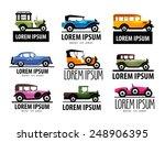 Retro Car Vector Logo Design...
