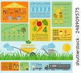 garden work infographic... | Shutterstock .eps vector #248909575