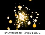 yellow bokeh. the abstract of... | Shutterstock . vector #248911072