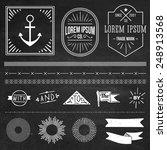 vintage hipster labels and... | Shutterstock .eps vector #248913568