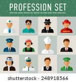 different people professions... | Shutterstock .eps vector #248918566