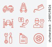 car service icons  thin line... | Shutterstock .eps vector #248919826