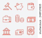 finance icons  thin line style  ... | Shutterstock .eps vector #248919835
