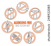vector icons set for allergens... | Shutterstock .eps vector #248922085
