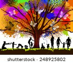 childhood. colorful tree. vector | Shutterstock .eps vector #248925802