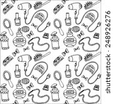 women accessories pattern black ... | Shutterstock .eps vector #248926276