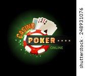 casino online poker traditional ... | Shutterstock .eps vector #248931076