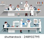 scientists in lab concept with... | Shutterstock .eps vector #248932795