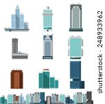 skyscraper offices flat... | Shutterstock .eps vector #248933962