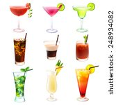 cocktail realistic decorative... | Shutterstock .eps vector #248934082