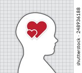 the human thinking about love... | Shutterstock .eps vector #248936188