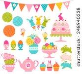 set of easter sweets  easter... | Shutterstock .eps vector #248940238
