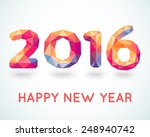 happy new year 2016 colorful... | Shutterstock .eps vector #248940742