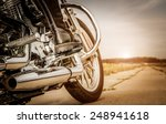 biker girl riding on a... | Shutterstock . vector #248941618