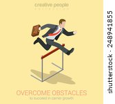 overcome obstacle crisis risk... | Shutterstock .eps vector #248941855