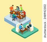 coworking flat 3d web isometric ... | Shutterstock .eps vector #248942302