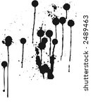 paint spatter with large drips... | Shutterstock .eps vector #2489463