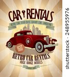 Retro Car Rentals Design With...