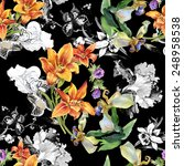 colorful seamless floral... | Shutterstock . vector #248958538