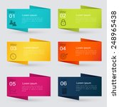 vector colorful info graphics... | Shutterstock .eps vector #248965438