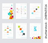 set of infographics elements in ... | Shutterstock .eps vector #248965516