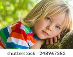 Cute Child Relaxing Deep In...