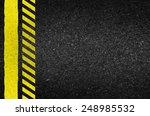 danger arrows on asphalt...   Shutterstock .eps vector #248985532