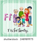 Illustration Of A Letter F Is...