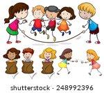 illustration of many children... | Shutterstock .eps vector #248992396