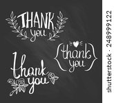 a set of style 'thank you'... | Shutterstock .eps vector #248999122