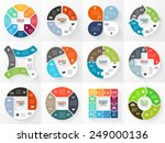 vector circle arrows stripe... | Shutterstock .eps vector #249000136