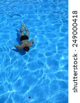 isolated azure water pool and... | Shutterstock . vector #249000418