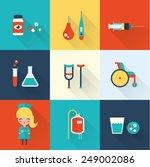 nurse icons | Shutterstock .eps vector #249002086
