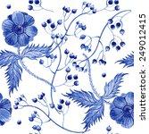 vector floral watercolor... | Shutterstock .eps vector #249012415