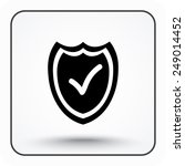 shield sign icons  vector... | Shutterstock .eps vector #249014452