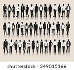vector of business silhouettes | Shutterstock .eps vector #249015166
