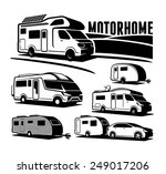 rv cars recreational vehicles... | Shutterstock .eps vector #249017206