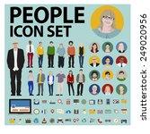 people icon set social media...