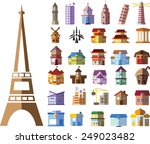 set of different buildings and... | Shutterstock .eps vector #249023482