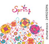 figure spring flowers  colorful ...   Shutterstock .eps vector #249025096