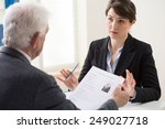 elderly elegant man on his... | Shutterstock . vector #249027718
