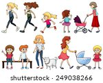 a group of young and adult... | Shutterstock .eps vector #249038266