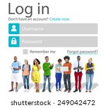 casual people account login... | Shutterstock . vector #249042472