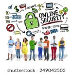 online security protection... | Shutterstock . vector #249042502