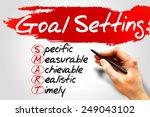 smart goal setting  business... | Shutterstock . vector #249043102